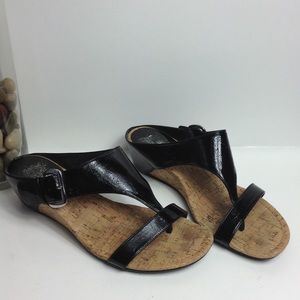 Coach and four Gazelle wedge sandals